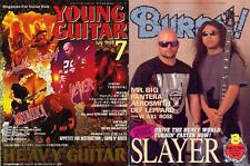 SLAYER on Cover LOT of 2 Japan Magazines RARE! Kerry King