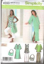Simplicity 4550 Misses Pants Dress Tunic Caftan Two Lengths Sz 8-14 UNCUT