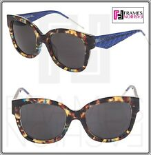 8488d70958d Christian Dior Verydior 1n Translucent Blue Brown Havana Square Sunglasses