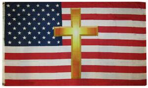 3x5 American USA Christian Cross 3'x5' Jesus Flag 5x3 Grommets