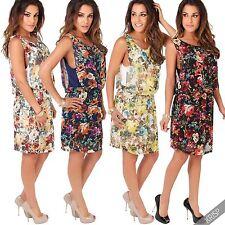 Damenkleider im Tuniken-Stil mit Rundhals und Polyester für Freizeit