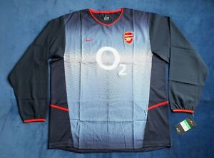 BNWT Arsenal FC Season 2002-2003 Away Player Issue Shirt Long Sleeve XL WOW !
