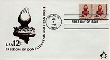 US FDC #1594 Liberty Torch, Andrews (5227)aa