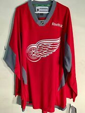 Reebok Practice  NHL Jersey Detroit Redwings Team Red sz 2X