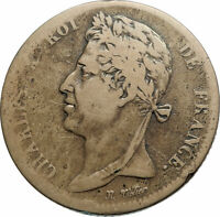 1827 FRENCH COLONIES King Charles X Genuine 5 Centimes Old French Coin i79491
