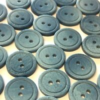 20 x 15mm grey and white marbled effect resin buttons with two holes