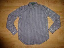 Women's Ralph Lauren Multi Stripe Long Sleeve Cotton Shirt Top Size M UK 12
