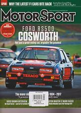 MOTOR SPORT MAGAZINE UK MAY 2017, FORD RS500 COSWORTH.