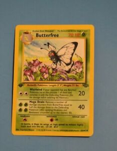 First Edition Butterfree 33/64 1st Edition Jungle Set Pokemon Card Wizards-MINT