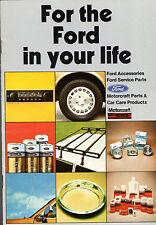 ACCESSORI FORD 1977-78 mercato britannico opuscolo FIESTA ESCORT CORTINA CAPRI GRANADA