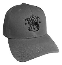 Smith Wesson Baseball Hat/ Dk.GRAY/Adjustable Back OSFM / PreCurved Baseball Cap