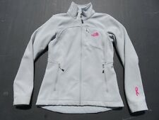 Womens NORTH FACE Gray Pink Cancer Ribbon Bionic Apex Soft Shell Jacket Small