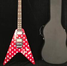 2018 NEW Fly V Randy Rhoads Electric Guitar White Polka Dot Floyd Rose Bridge