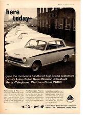 1964 LOTUS CORTINA ~ ORIGINAL PRINT AD