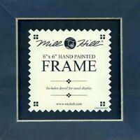 MILL HILL FRAME 6 x 6 in Fits Mill Hill Button & Bead Cross Stitch Kits BLUE