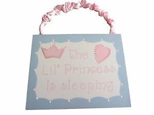 NEW Lil Princess is Sleeping Wall Plaque Hanging Girl's Nursery Decor Sign