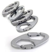 5PCS/Set Portable Camping Hiking 8-Shaped Carabiner Clip Hook Key Chain Stock