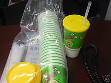 Lemonade Cups With Lids  & Straws (100) 32oz