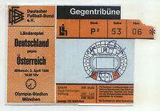 Ticket Länderspiel 02.04.1980 Deutschland - Österreich / Austria in München