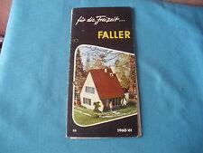 468 H FALLER 1960/61 FOLLETO 14 PÁGINAS CASAS MAQUETAS FIGURAS AVIONES