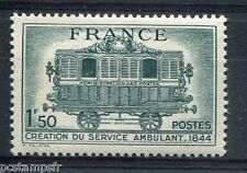 FRANCE 1944 timbre 609, TRAIN POSTAL, neuf**