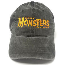 3d28e6a2a26 Famous Monsters Embroidered Dad Hat Black w  Orange Logo