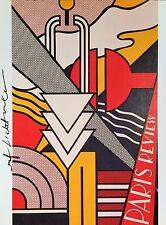 ROY LICHTENSTEIN  * PARIS REVIEW POSTER *  AUTHENTIC HAND SIGNED PRINT W/ C.O.A.