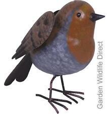 Ornamental Garden Decorative Robin - Realistic Metal Bird Statue