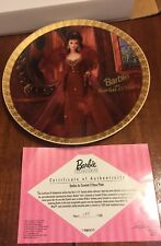 Enesco Barbie As Scarlett O'Hara In Gone With The Wind Plate Second In A Series