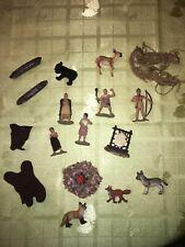 Lot of Safari Ltd Mini Figurines - Native American Indians / Animals
