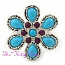 Silver Plated Turquoise Costume Rings