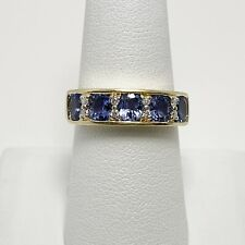 1ctw Natural Tanzanite Diamond 14k Yellow Gold Ring (5254)