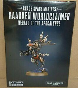 Warhammer 40k 43-23 Chaos Space Marines HAARKEN WORLDCLAIMER NEW/SEALED
