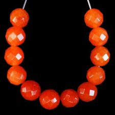 Round Ball Pendant Bead M65161 12Pcs/set 8mm Faceted Natural Red Aventurine