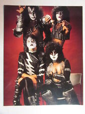 KISS CREATURES OF THE NIGHT ERA REPRINT 8x10 GLOSSY CARD ACE FREHLEY ERIC CARR