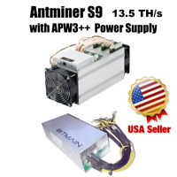BITMAIN AntMiner S9 13.5TH/s with Power Supply. Lightly Used. Great Condition