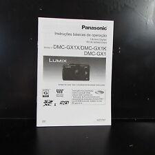 Panasonic DMC-GR1X / GX1K GX1 Instrucoes Basicas De Operacao Portuguese language