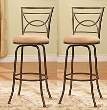 "Set of 2 Black Adjustable Swivel Counter Height Bar Stools 24"" - 29"" High"