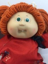 Vintage Cabbage Patch doll Red head in Asian Outfit 1985