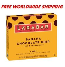 Larabar Banana Chocolate Chip Bars Gluten Free 5 CT 8 Oz FREE WORLD SHIPPING