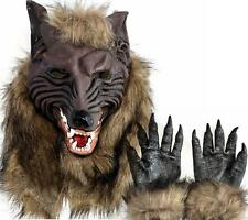 Deal Sale Wolf Mask Wolf man Masks Latex Costume Prop  Novelty Spooky Wolf Paws