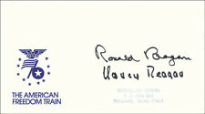 RONALD REAGAN - COMMEMORATIVE ENVELOPE SIGNED WITH CO-SIGNERS