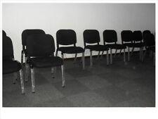 BULK 6xharris Assembled Stackable Chair in Black Sturdy Metal Frame&legs
