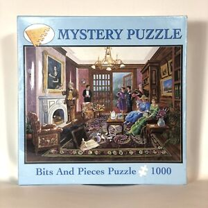 Mystery Puzzle Murder at Bedford Manor 1000 Piece Jigsaw Puzzle BRAND NEW SEALED