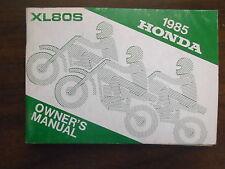 1985 Honda XL80S Owners Manual