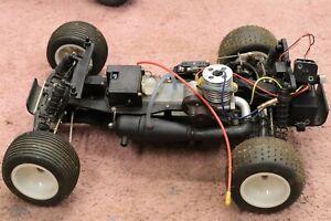 vintage traxxas rustler gas nitro rc car .15 motor trx parts repair chassis