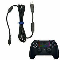 USB Cable Wire Cord For Razer Raiju Ergonomic PS4 Xbox One Gamepad Controller