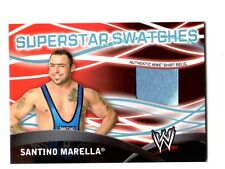 WWE Santino Marella Topps 2011 Superstar Swatches Event Used Shirt Relic Card Bl