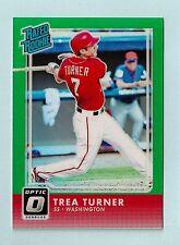 Trea Turner 2016 Donruss Optic Nominal Rookie Esmeralda #5/5 Nacionales