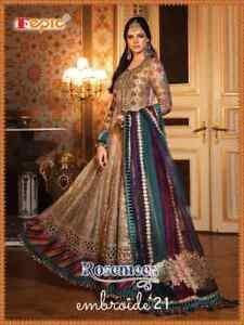Indian Bollywood Pakistani Salwar Kameez Fepic Designer Anarkali Bridal Suits